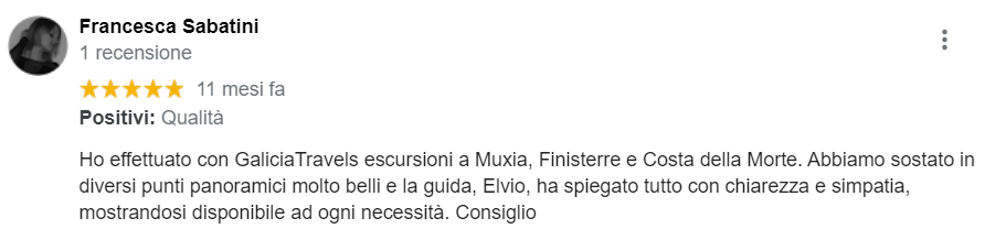 Descripción en italiano de Elvio como guía